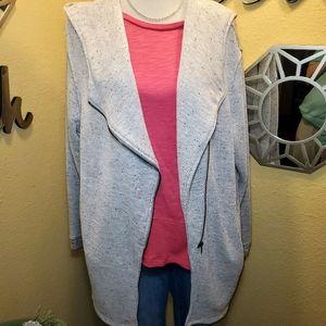 Kut From the Kloth Zip up Sweatshirt w/ Hood sz XL